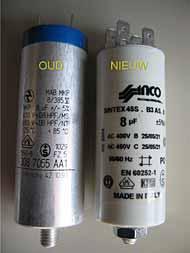 Condensator rolluik vervangen
