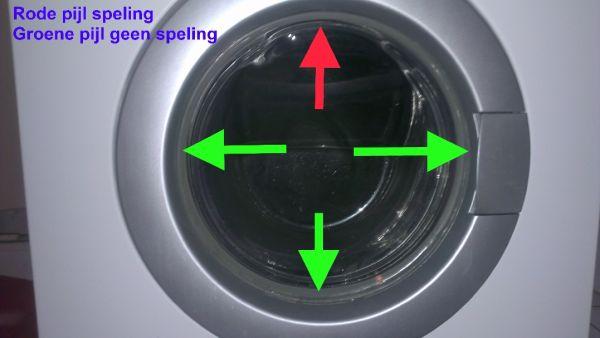 Wasmachine schudt hevig