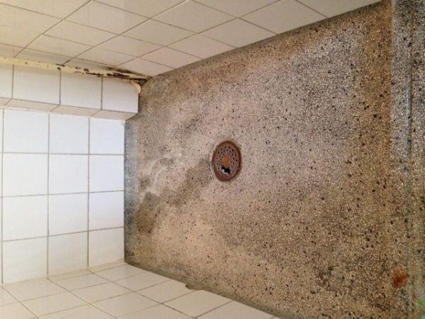 ... ~ verhelpen lekkage doucheputje en waterdicht maken badkamervloer