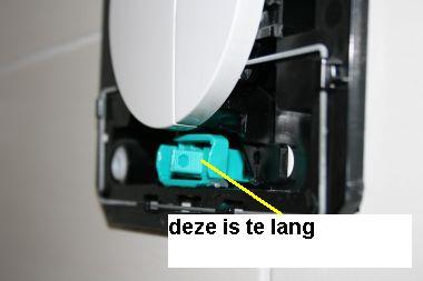 drijver in toilet vervangen