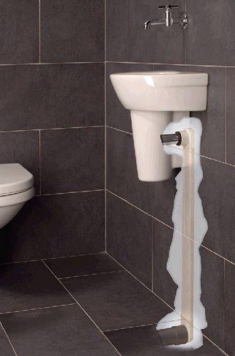 Rvs Badkamerverlichting ~ Afvoer fontein wegwerken in de muur  aansluiten op riool