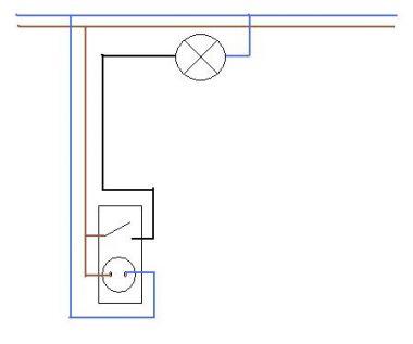 Stopcontact met lichtschakelaar