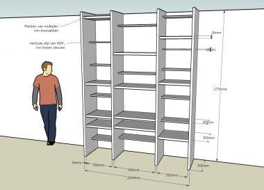 Boekenkast maken - Planken maken in een kast ...