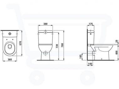 Beroemd Maten wc pot – Naambordje voordeur messing PX34