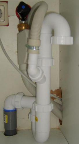 Wasbak Keuken Monteren : Afvoer vaatwasser en wasbak II