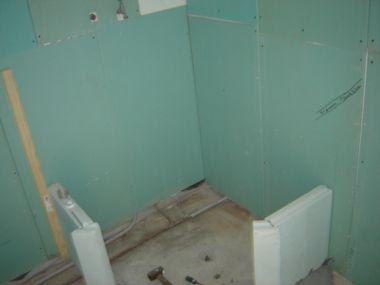 Gipsplaten badkamer