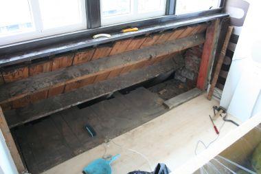 Oude vensterbank verwijderen