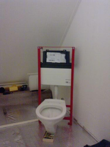 Hangend toilet niet aan een bestaande muur plaatsen - Muur tegels voor wc ...