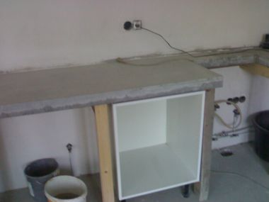 Aanrechtblad renoveren beton