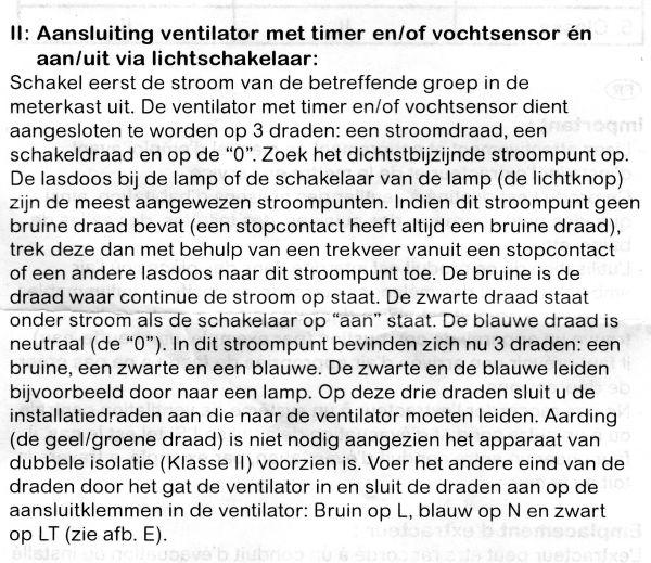 Eisen Aarding Badkamer ~ Licht met ventilator met sensor