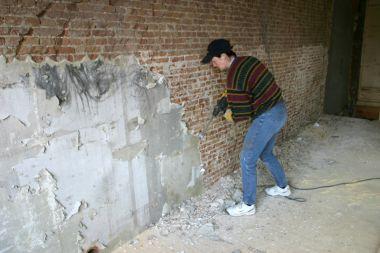 Stenen Muur Verven : Verf verwijderen stenen muur archidev