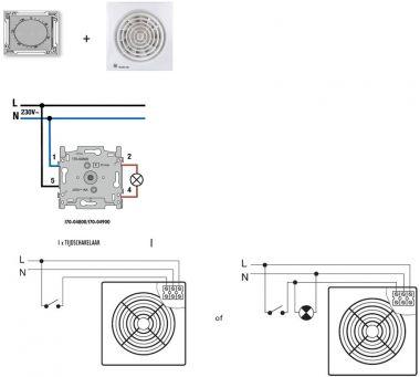 Badkamerventilator met vochtsensor aansluiten