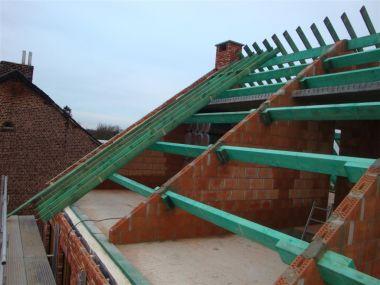 Plaatsen gordingen renovatie - Scheiding houten ...