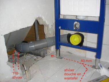 Afvoer Badkamer Diameter : Afvoer wc diameter 90 mixers sanitair