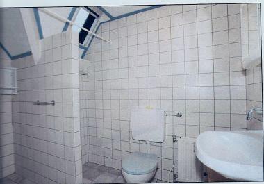 Muur verplaatsen dragend - Huidige badkamer ...