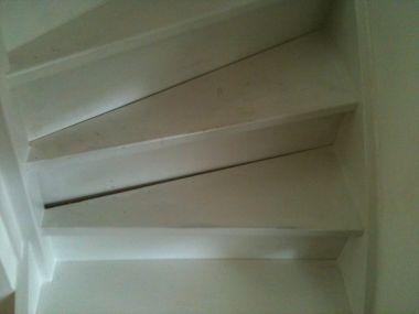 Stootbord vervangen bij een dichte trap for Dichte trap maken