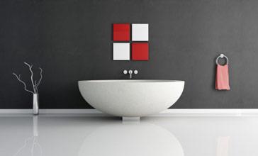 badkamer wand geen tegels, Meubels Ideeën