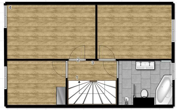 Advies waar te beginnen met laminaatvloer - Midden kamer trap ...