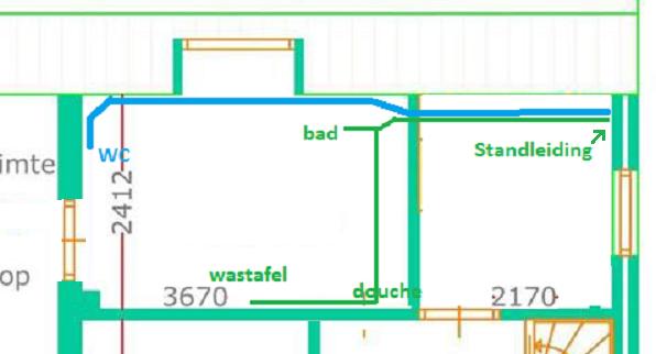 Wandlamp Badkamer Zwart ~ Afvoer toilet badkamer te lang?