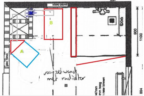 Wandlamp Badkamer Zwart ~ Afvoer toilet in badkamer verplaatsen, kan dat?!