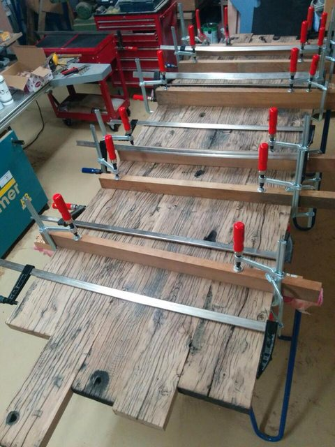 Eikenhouten tafelblad verlijmen voldoende for Tafelblad maken