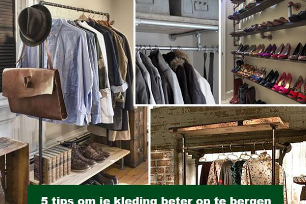 5 tips om je kleding beter op te bergen met doe-het-zelf kledingrekken