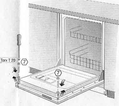 paneel verwijderen vaatwasser bosch. Black Bedroom Furniture Sets. Home Design Ideas