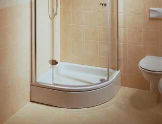 Douchescherm hoe meet ik mijn straal van mijn douchebak?