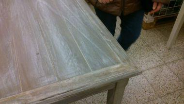Eiken meubel old grey look geven