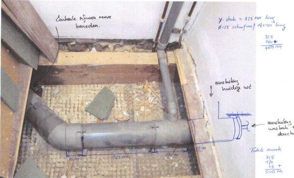 Douche Afvoer Renovatie : Afvoer douche uithakken eenvoudig nieuwe afvoer in