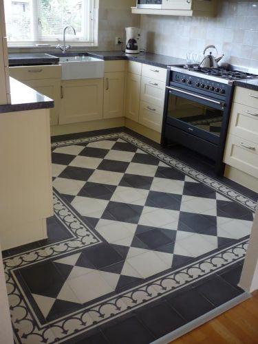 Wat te doen met de vloer van het halletje - Tegelvloer patroon ...