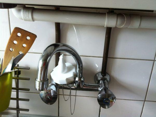 Kraan Uit Wand : Keukenkraan muur verlengen verplaatsen