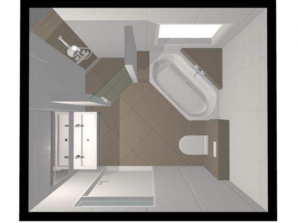 Badkamer wandje van celbetonblokken & plaatsen glazen deur