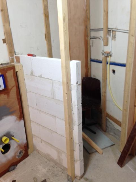best gasbeton ud muurtje in badkamer maken sydati muur