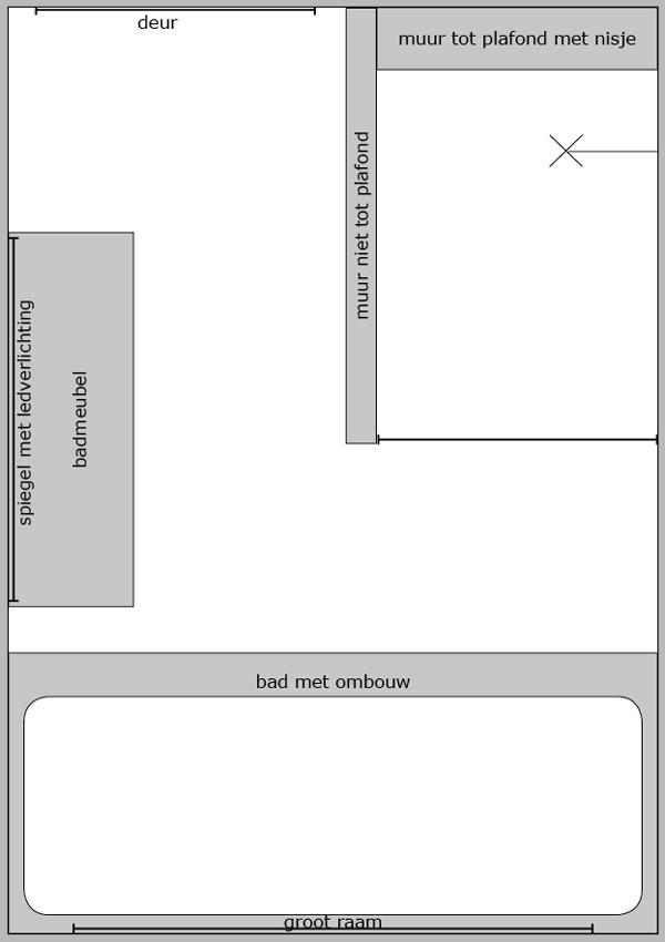 Badkamer, inbouw spots