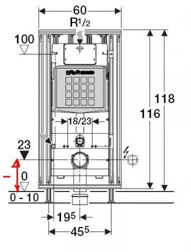 Afmeting Hangend Toilet.Inbouwmaten Hangend Toilet