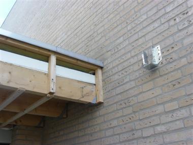 Hulp gevraagd bij overkapping - Veranda met stenen muur ...