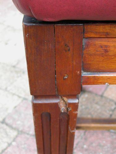 Gebroken stoelpoot repareren