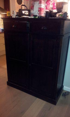 Mdf Kasten Schilderen  Gelamineerde meubels schilderen wikihow  Zwart keukenkast met hoogglans