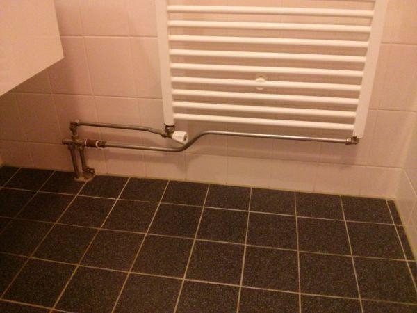 Aansluiting radiator verplaatsen
