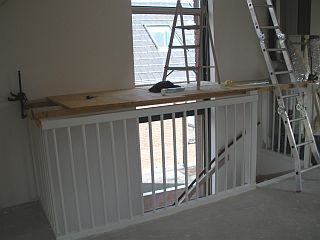 Zoldering schilderen - Schilderen muur trap ...