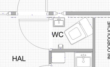 Oplossing latei voor boven wc deur for Lay outs van het huis hal