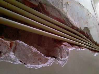Super Grote diepe gleuf/scheur in de muur NX59