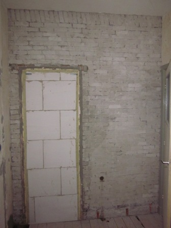 Hoe deze muur klaarmaken voor tegelwerk?