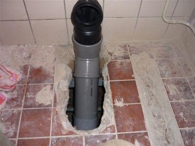 Hangend Toilet Plaatsen : Wc afvoer verplaatsen