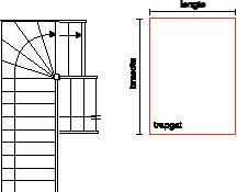 Kwartslag trap in een halfslag trapgat for Luie trap afmetingen