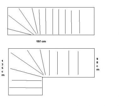 Leerstof gezocht om trap met kwart rechts onder te ontwerpen for Trap ontwerpen