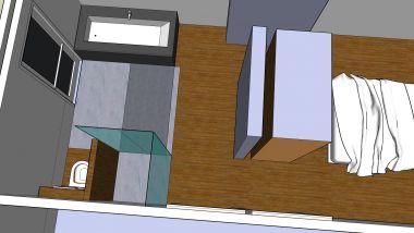 Badkamer Met Slaapkamer : Immobilien open keuken keuken badkamer slaapkamer