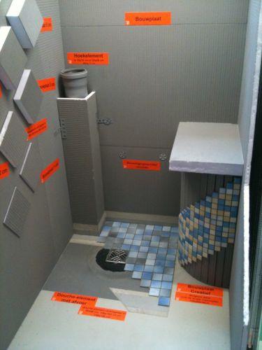 Badkamer nieuw opbouwen op balklaag