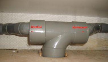 Afvoer Badkamer Diameter : Afvoer vaatwasser en wasbak ii